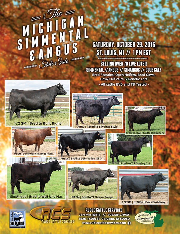 Michigan Simmental & Angus State Sale Catalog